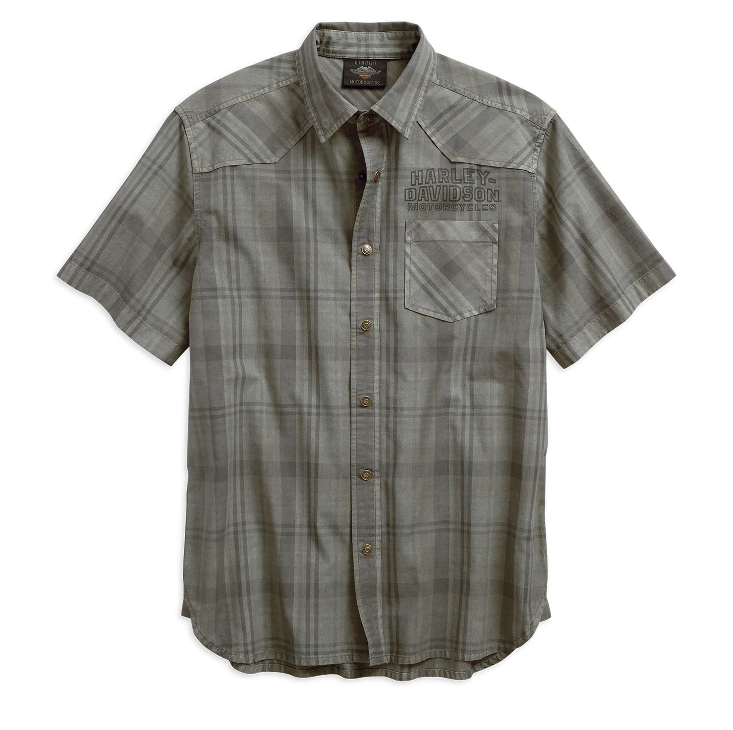 Men's Over-Dyed Plaid Shirt