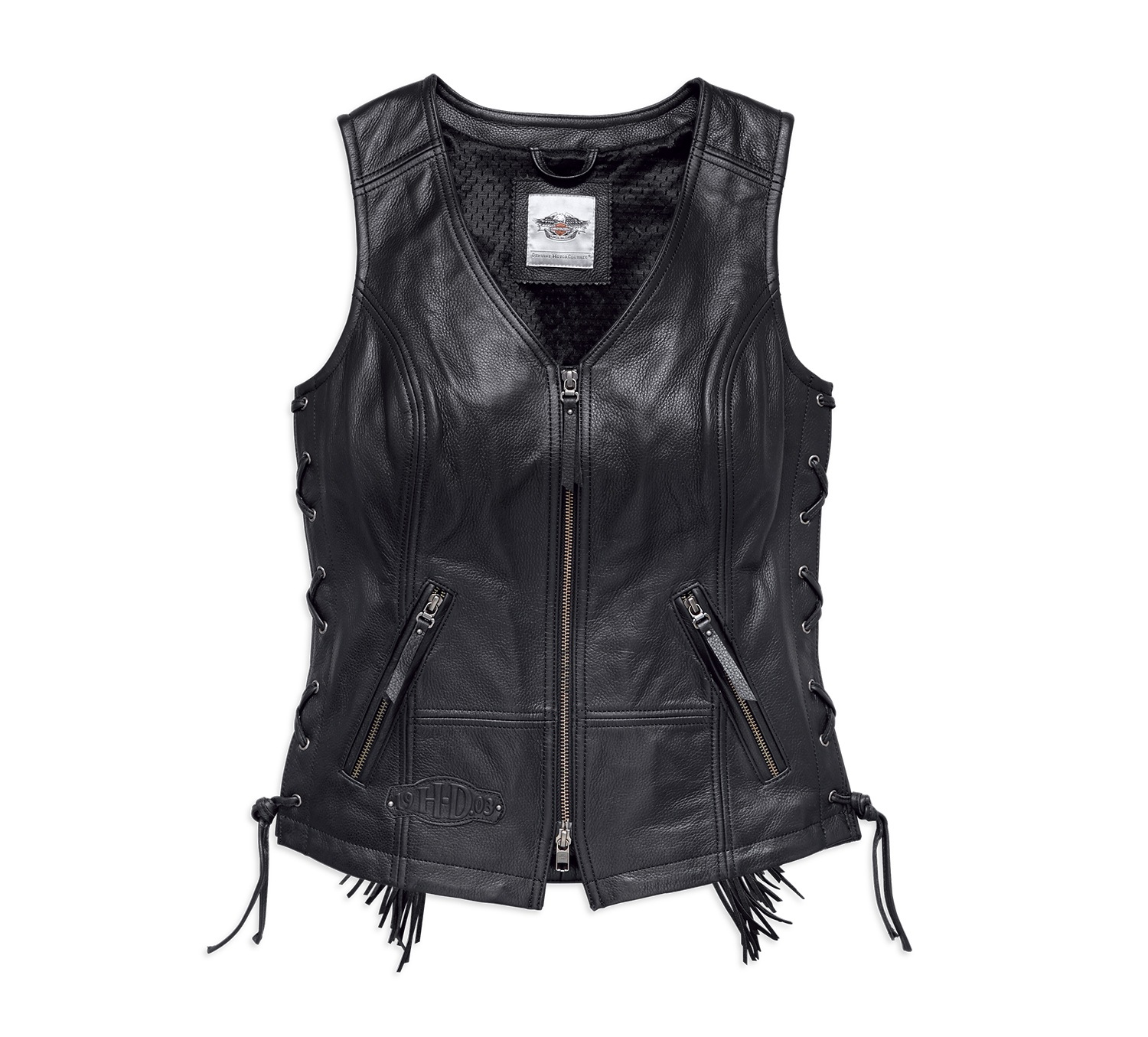 Women's Boone Fringed Leather Vest
